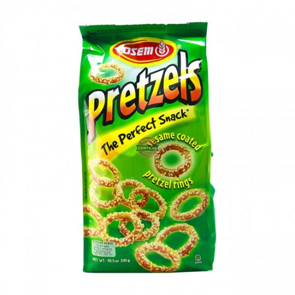 Osem - Sesame Pretzel Rings, 10.5-Ounce Package - בייגלה טבעות - אסם