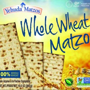Yehuda Matzos Whole Wheat (Kosher for Passover) 10.5 Ounces