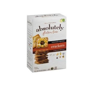 Absolutely - Gluten free Crackers, Cracked Pepper, 4.4 Ounces - קרקרים ללא גלוטן