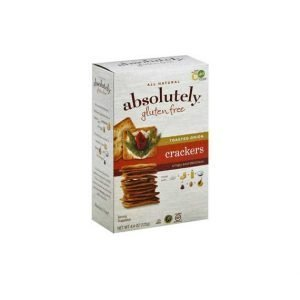 Absolutely - Gluten free Crackers, Toasted Onion, 4.4 Ounces. קרקרים ללא גלוטן - בטעם בצל