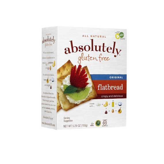 Absolutely - Gluten free Flatbread, original, 5.29 Ounces. - קרקרים ללא גלוטן -קלאסי