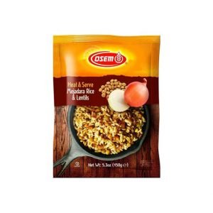 Osem - Heat and Serve Mejadara Rice and Lentils 5.3 Ounces Package. - מג'דרה להכנה מהירה