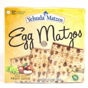 Yehuda Matzos Egg Matzos (Kosher for Passover) 10.5 Ounces