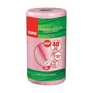 Sano Sushi All Purpose Reusable Cleaning Cloths Roll - Pink