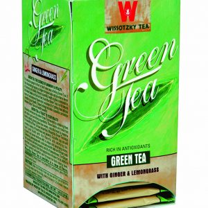 Wissotzky Tea Green Ginger & Lemongrass Tea /Box of 20 bags