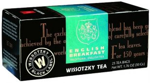 Wissotzky Tea English Breakfast Tea /Box of 25 bags