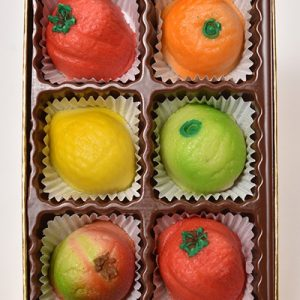 Assorted Individual Marzipan Fruit (6 pieces)
