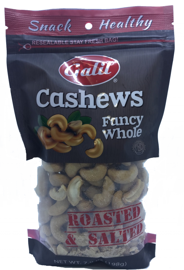 Galil- Cashews Fancy Whole Roasted & Salted 7oz