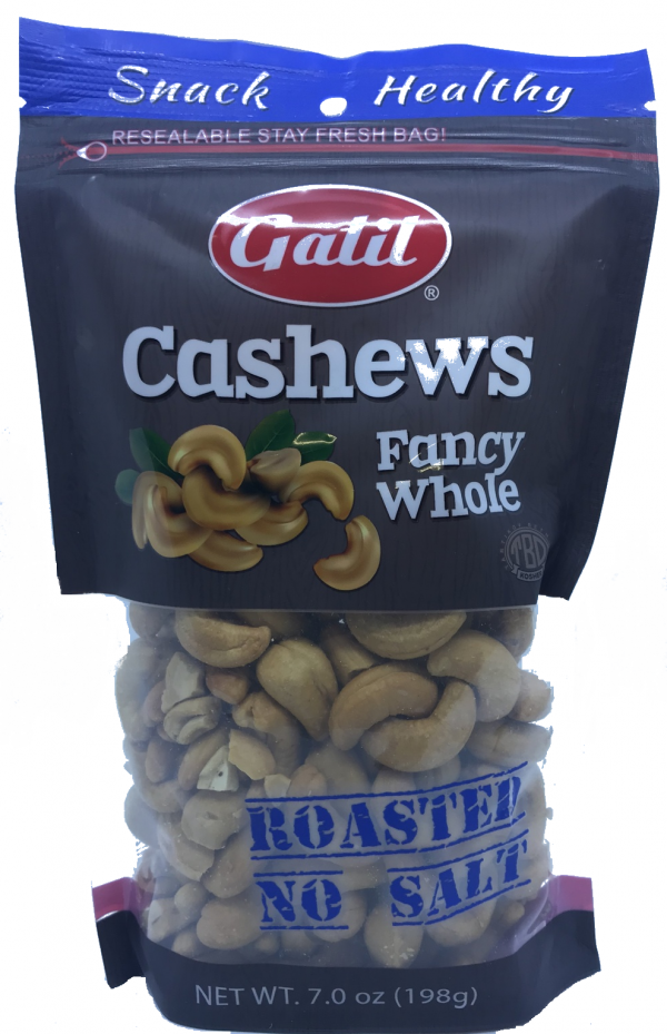Galil- Cashews Fancy Whole Roasted NO Salt 7oz