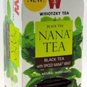 Wissotzky - NANA TEA - Black Tea with Spiced Nana Mint, Box Of 20 Bags