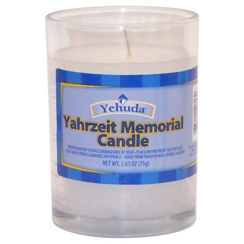 Yehuda – Yorhzeit Memorial Candle in Glass, 26 Hours