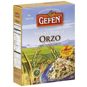 gefen whole wheat orzo